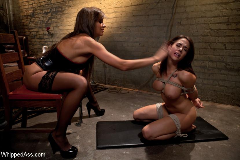 Lesbian Dildo Machine Bondage