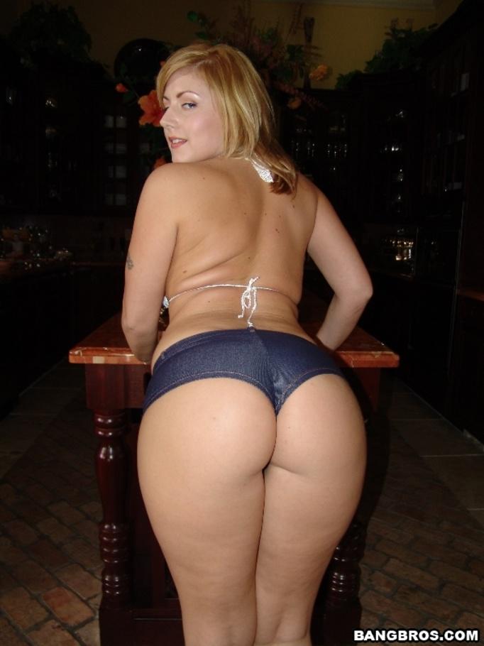 Big white ass threesome