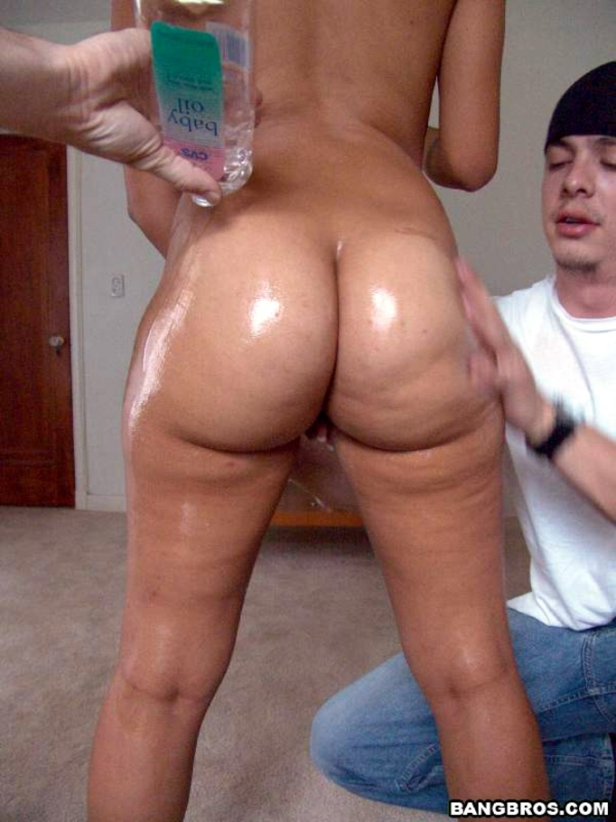 Oiled ass anal