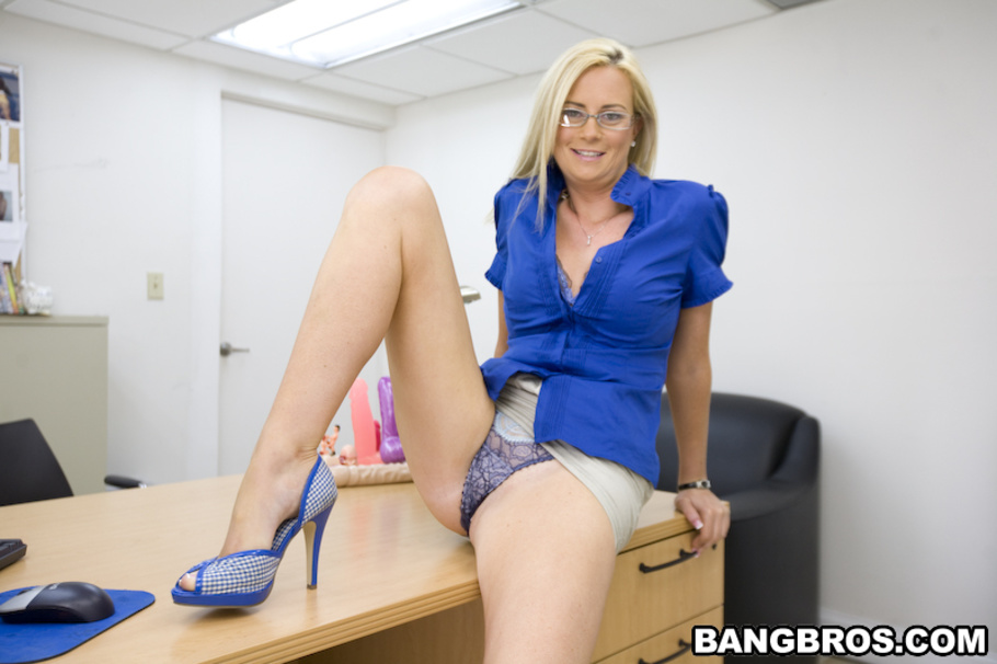 Sexy banker swallows and fucks big black cock 6