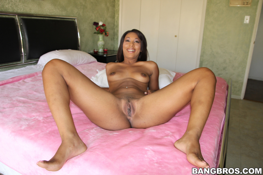 image Cute ebony chick is fucked and smashed