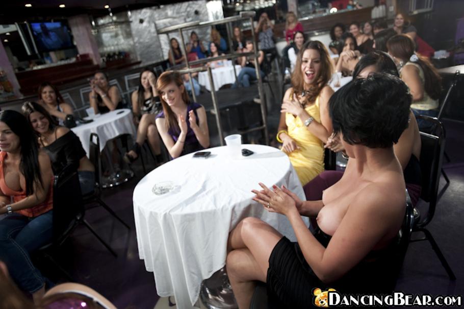 Dancing bear sea of women