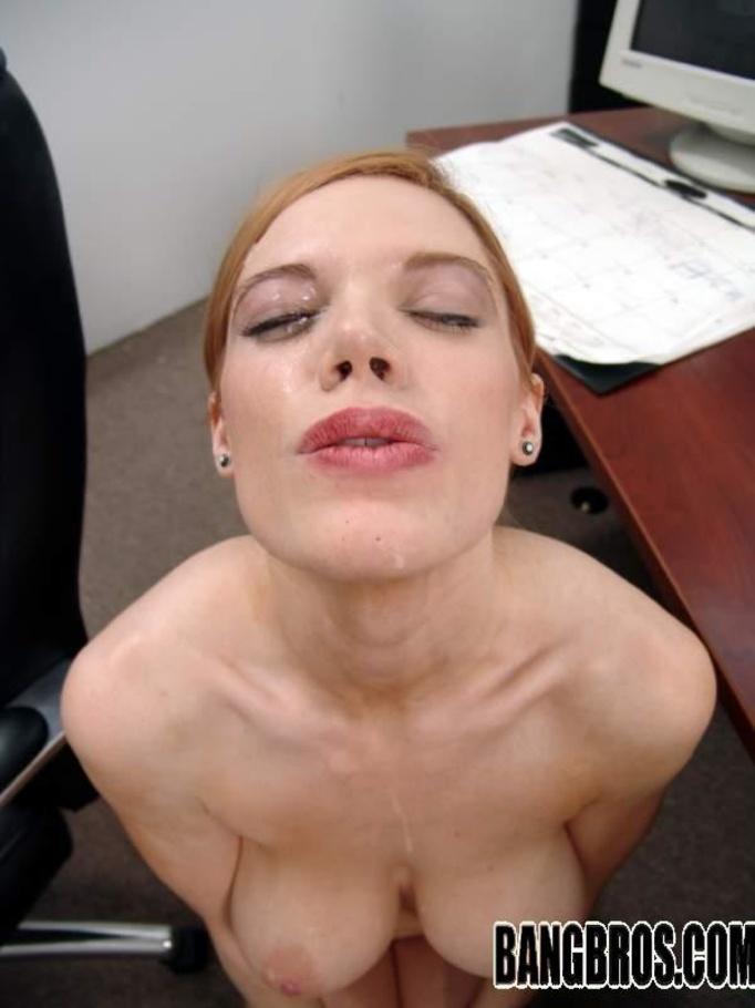 Natural tits girl hardcore and facial 5