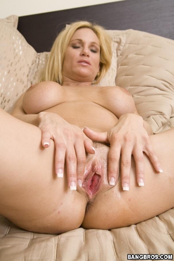 Blonde wet blowjob