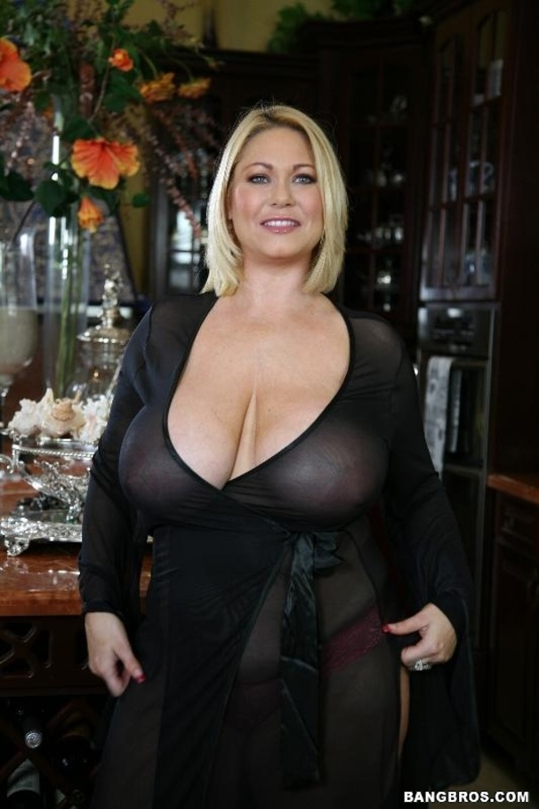 image Beautiful blonde milf with a huge rack loves getting filled with a big dick