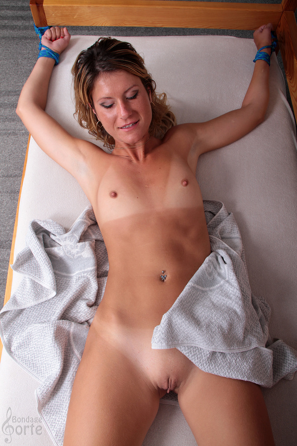 Simply excellent tied spread on bed and shaved