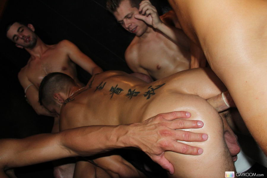 Multiple gay butt fucking and hard cock suc - XXX Dessert - Picture 14