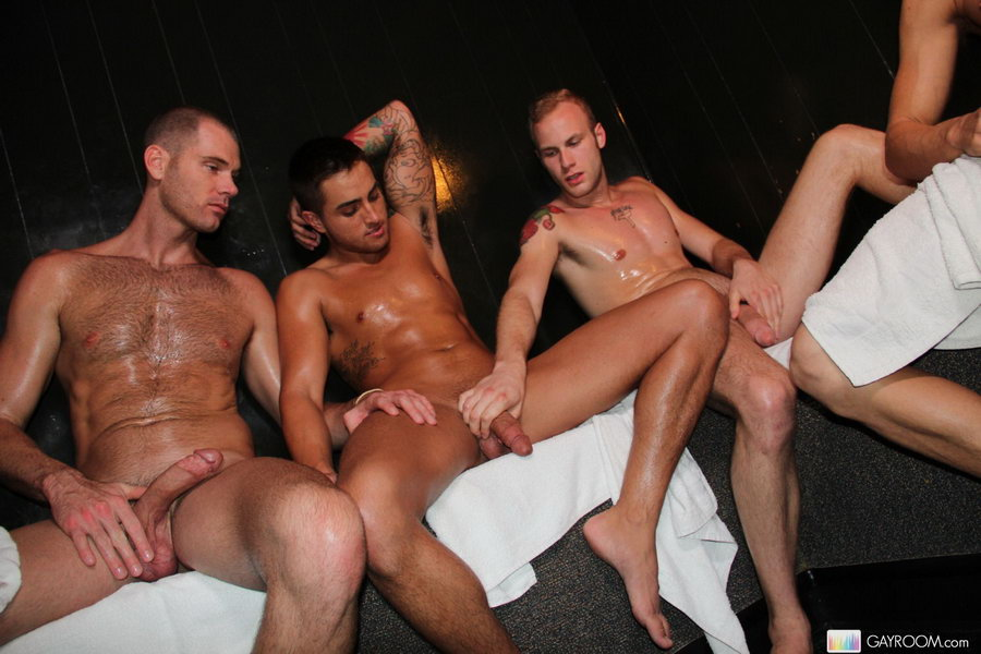 Wet Guys With Hard Cocks In Bathhouse Eat S - Xxx Dessert - Picture 2-7693