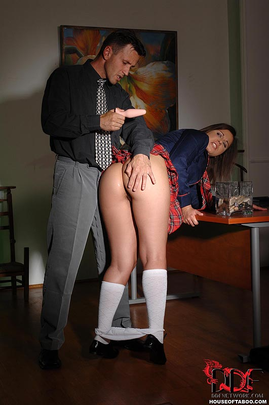 Sexy Naughty School Girl Wearing A Butt Plug Enjoyed -2093