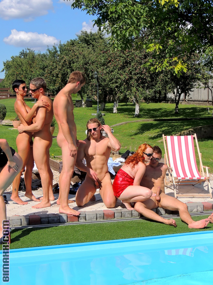 Pool orgy video redhead nude slut