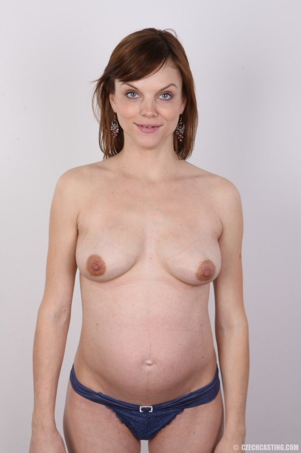 Czech Casting Pregnant Porn - Horny pregnant chick is hungry for cock - XXX Dessert - Picture 9