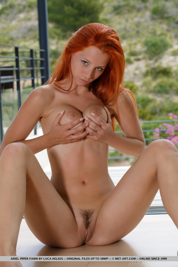 Red hair on pussy