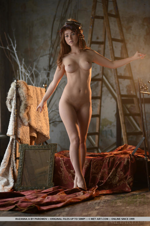 Busty Redhead Teen Plays Medieval Muse For - Xxx Dessert -8347