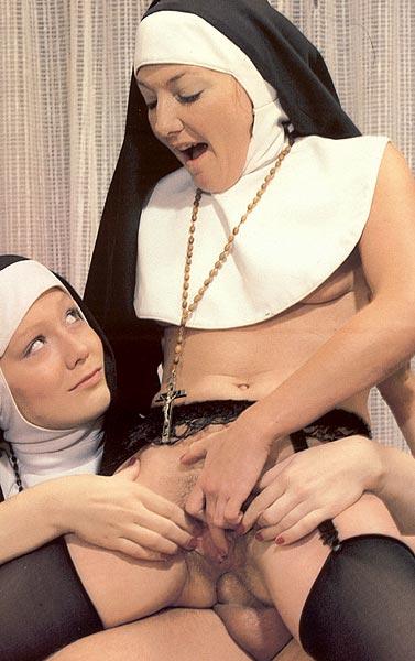 Two Slutty Retro Nuns Sharing The Gardener - Xxx Dessert -9121