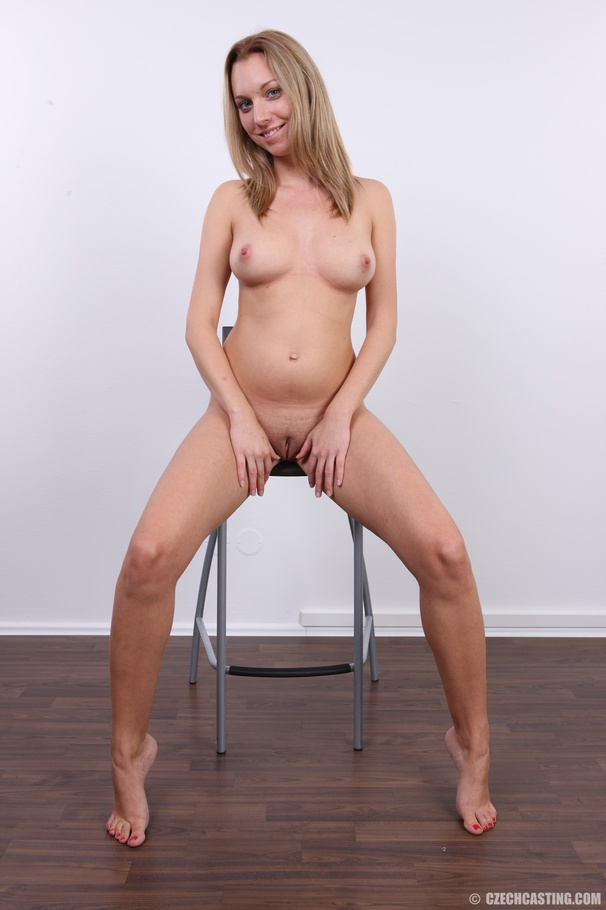 Czech Casting Pregnant Porn - Cute pregnant blonde looking slim and sexy shows pussy, tits, belly and  butt. Enter Czech Casting!