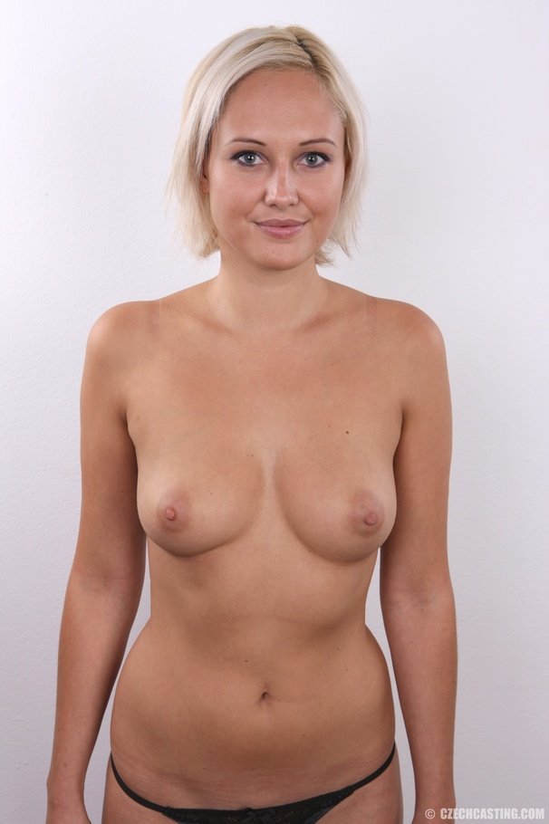 Short hair blonde beauty with sweet perky tits hot firm