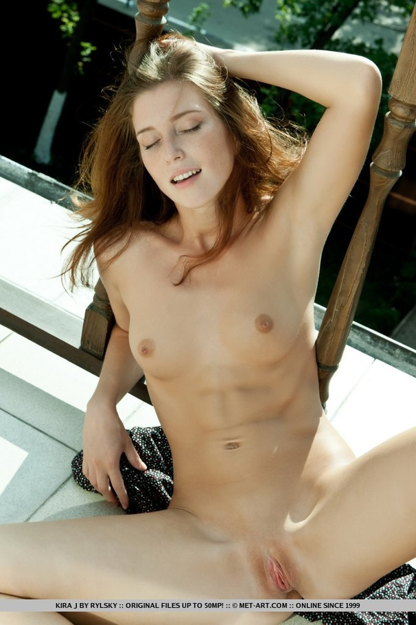 Skinny Pale Brunette Teen