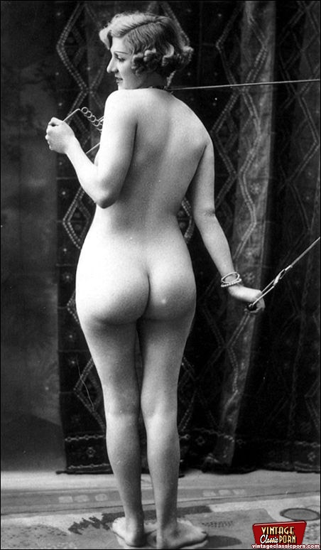 vintage ass Retro, naked