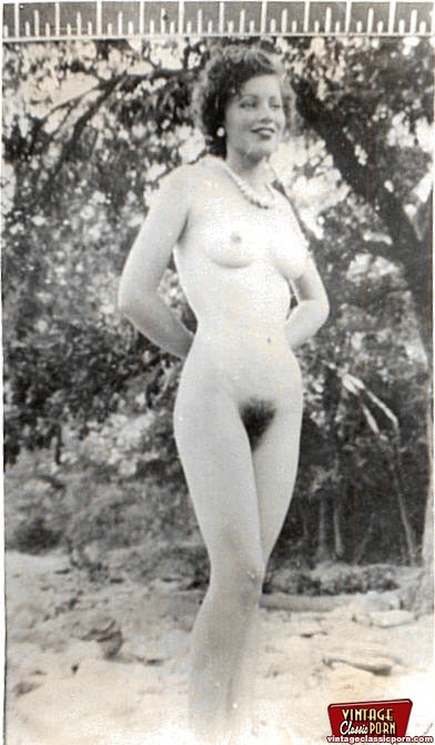 Vintage nude girls outdoors