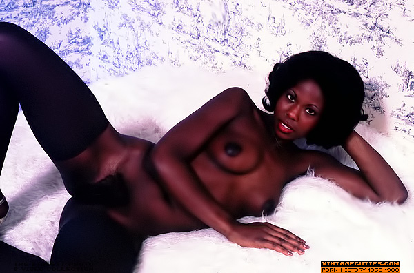 Vintage ebony stockings