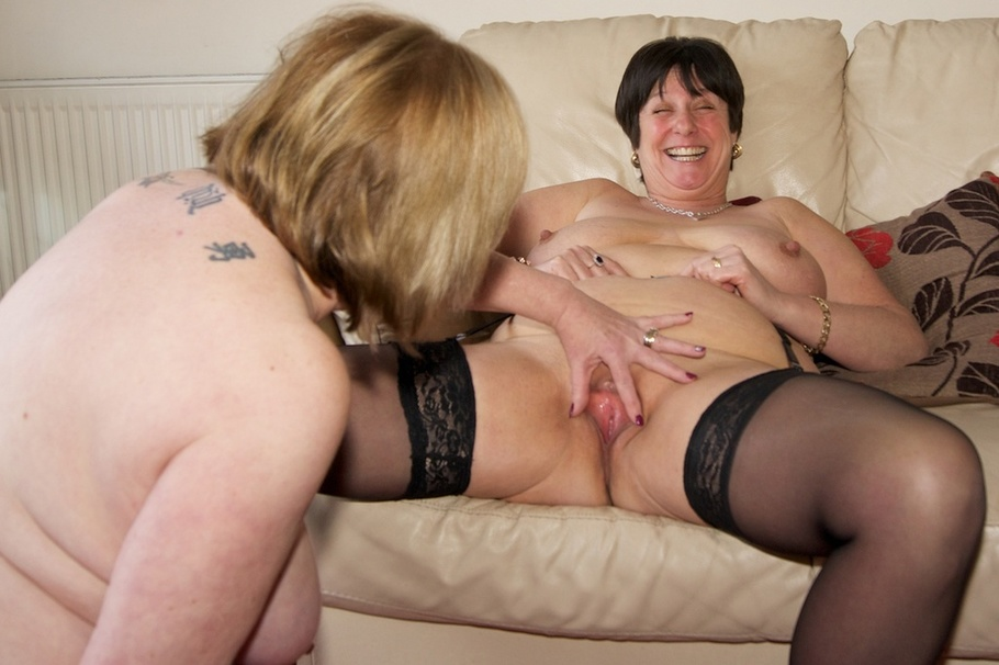 Mature stockings milf in lingerie riding cock