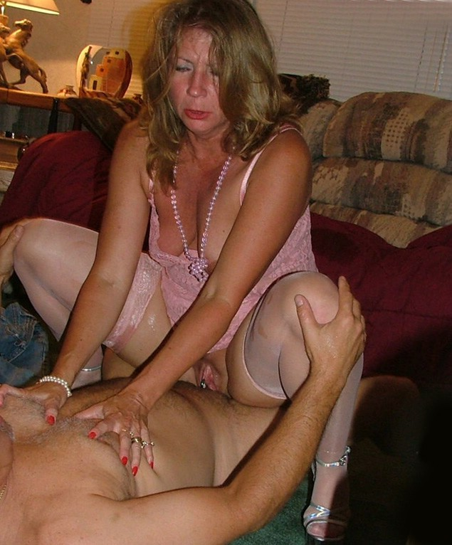 Busty blonde jerks cum onto tits 10
