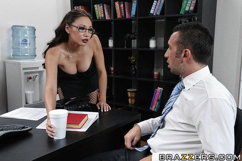 Sexy blonde secretary nude