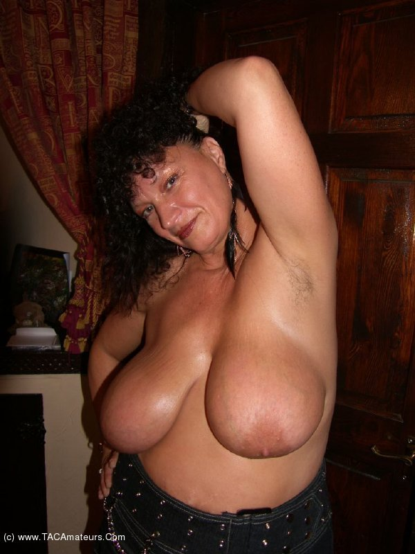 image Busty bbw milf with stockings uses toys