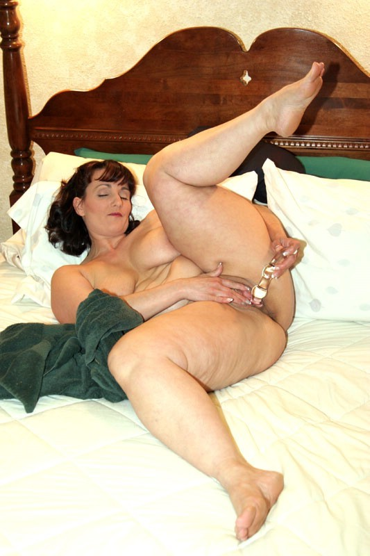 A pawg big tits puts her thong inside pussy for masturbation 10