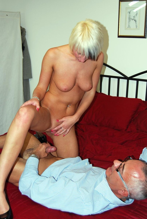 image Blonde young and old fucked on bed
