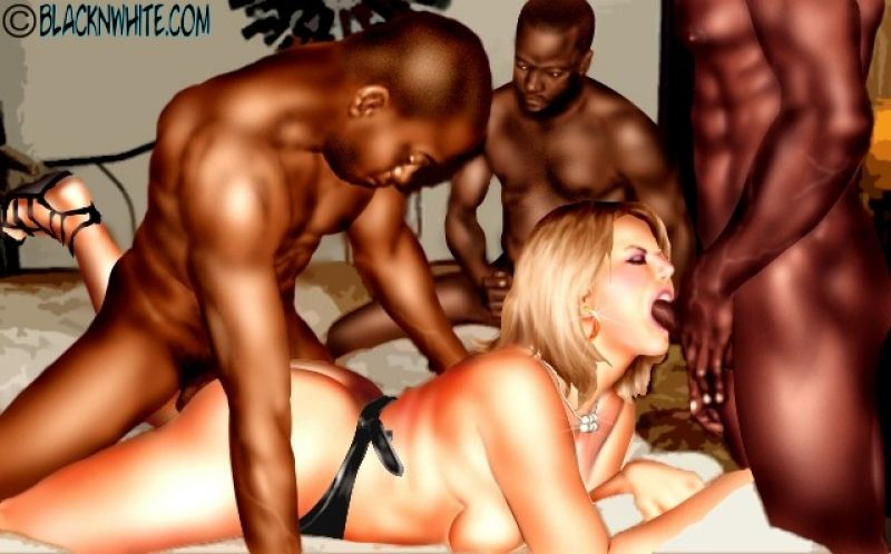 Two Black Guys Fuck White Girl