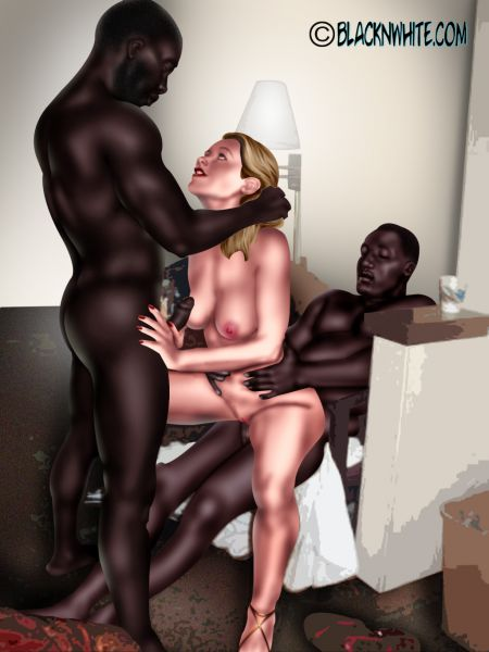 Sexy Black Girl White Cock