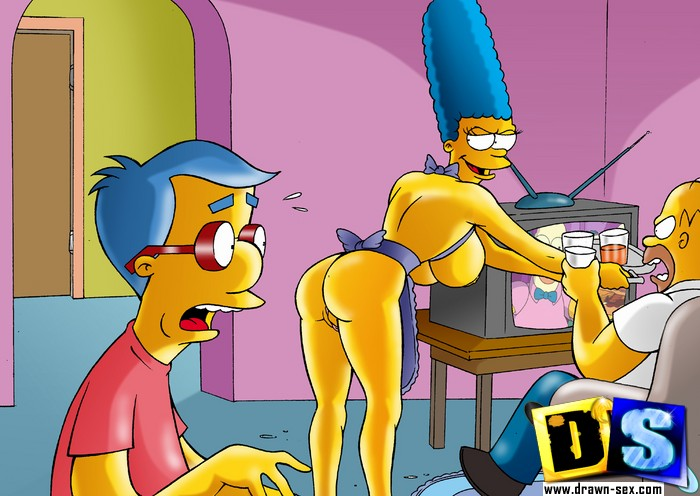 marge simpson gets laid