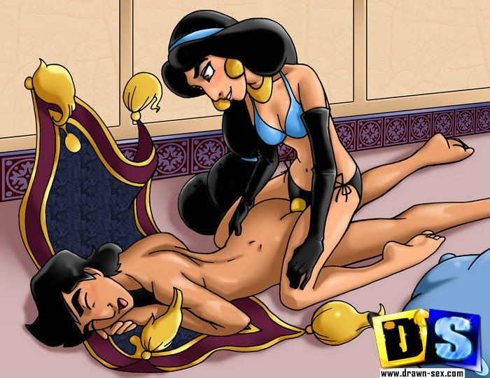 Disney princess jasmine porn, naked girl getting fucked outside