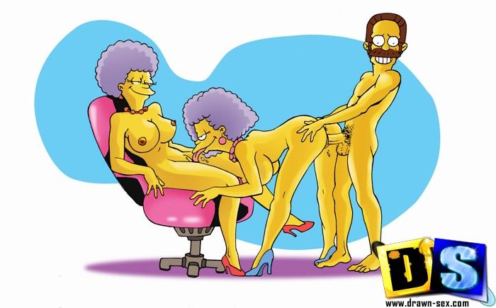 Nedward Flanders Marge stoji in ona jaha njegova-3810