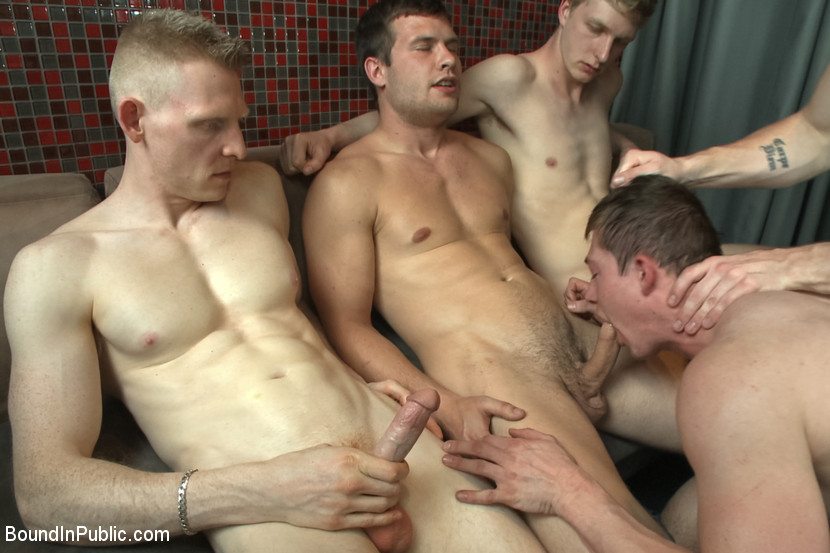 Gay Gang Sucking Cock In Turns