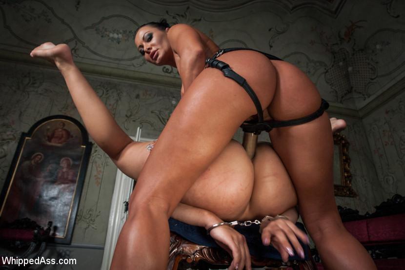 Rough Lesbian Strap Sex