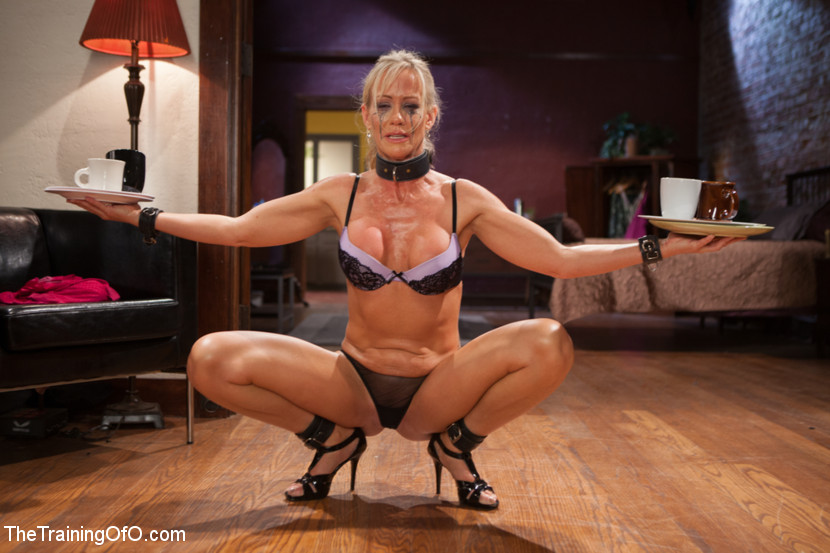 Obedient Blonde Gets Roped, Made To Squat W - Xxx Dessert -8566