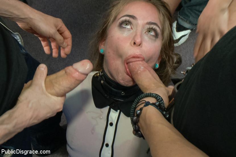 Disgraced publicily bondage public girls