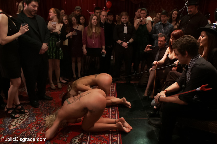 Nude Babes In Cage Gets Whipped Chained Vibrated And Made To Suck Dicks Publicly Enter Public Disgrace