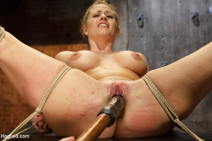 Pretty Blonde Tied To Chair, Roped, Clipped - Xxx Dessert - Picture 9-1969