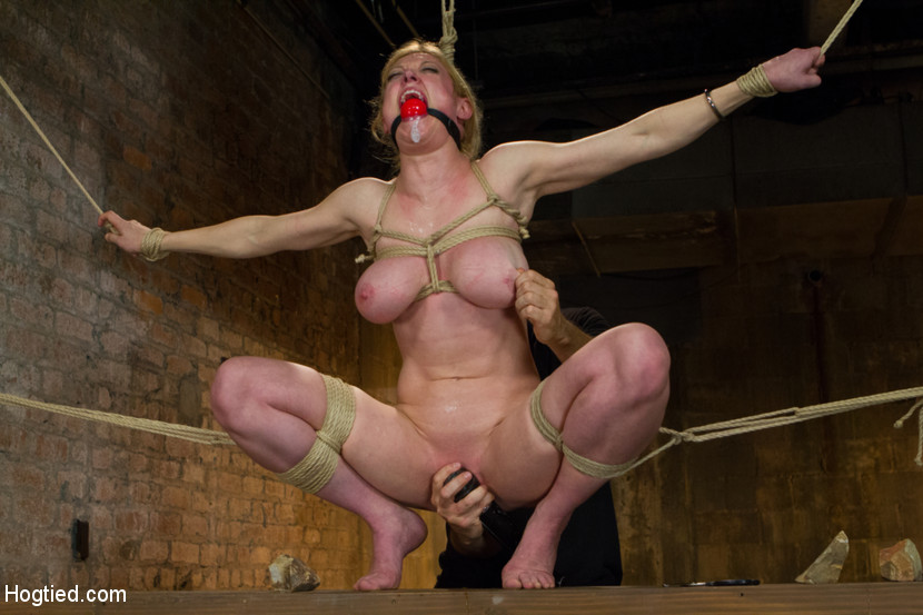 Big Boobs Blonde Roped Nude Pegged In Cunt - Xxx Dessert - Picture 13-5190