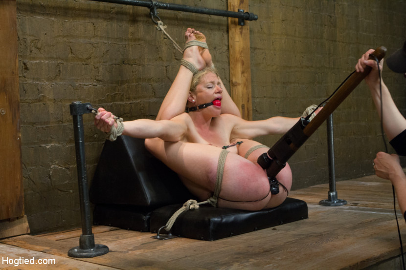 Roped Tied Up Blonde Fisted And Drilled Wit - Xxx Dessert - Picture 9-7549
