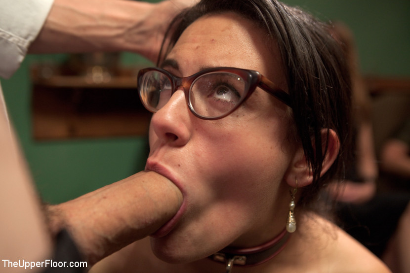 Caned blowjob