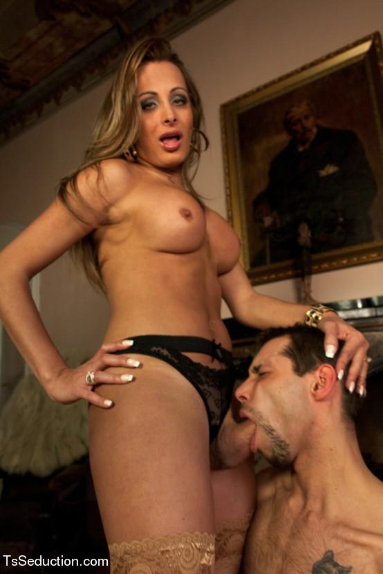 Male slave cock sucker