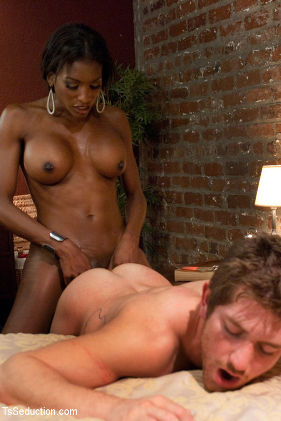 Big tits sexy black tranny welcomes white d - XXX Dessert - Picture 12