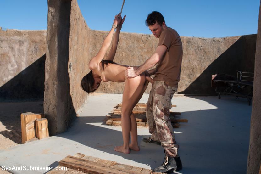 Outside naked desert men