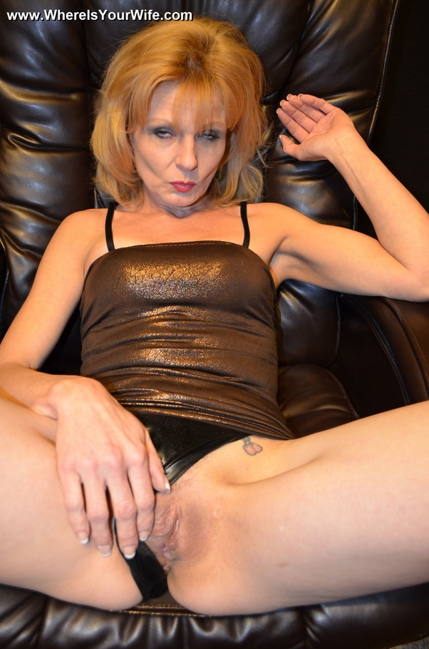 image Blond milf housewife yvette williams shows you perky tits