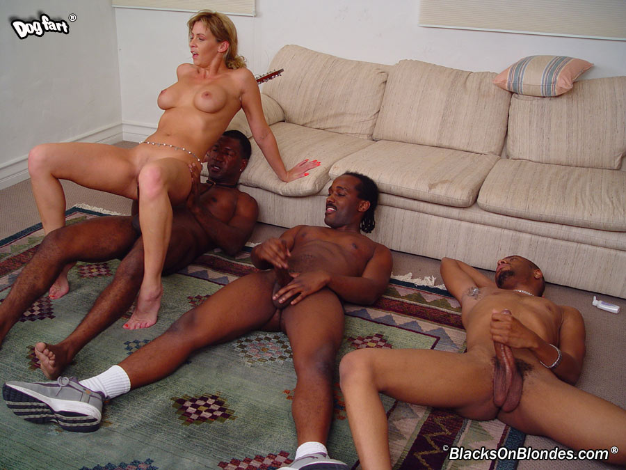 Black on blonde gangbang