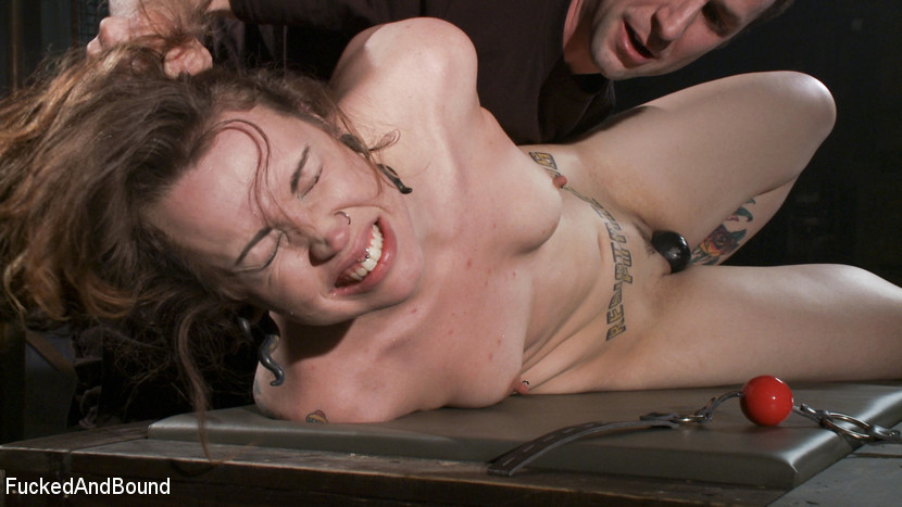 Tattooed bitch gets roped to the tabled for - XXX Dessert - Picture 5